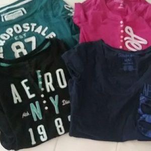 Aeropostle Shirts Lot of 4 Medium